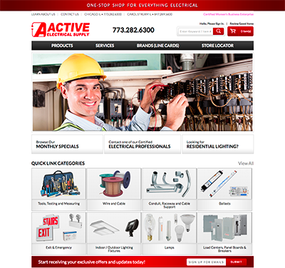 activeelectric website
